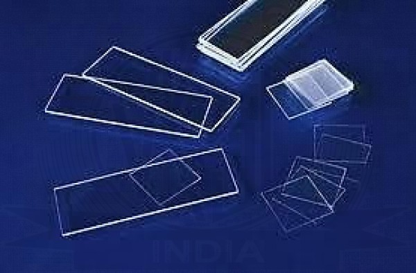 VKSI Microscope Blank Glass Slides, 50 cover slips